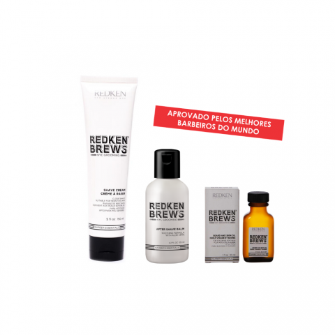 KIT REDKEN BREWS AFTER SHAVE125ML + SHAVE CREAM 150ML+ BEARD OIL 30ML