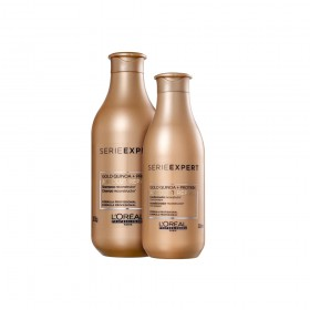 KIT L'ORÉAL PROFESSIONNEL ABSOLUT REPAIR GOLD QUINOA + PROTEIN SHAMPOO 300ML E CONDICIONADOR 200ML